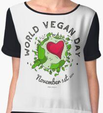 World Vegan Day Women's Chiffon Top