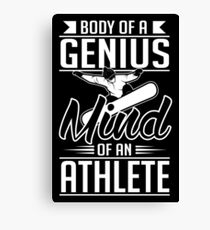 Snowboarding: Body of a genius- mind of athlete Canvas Print