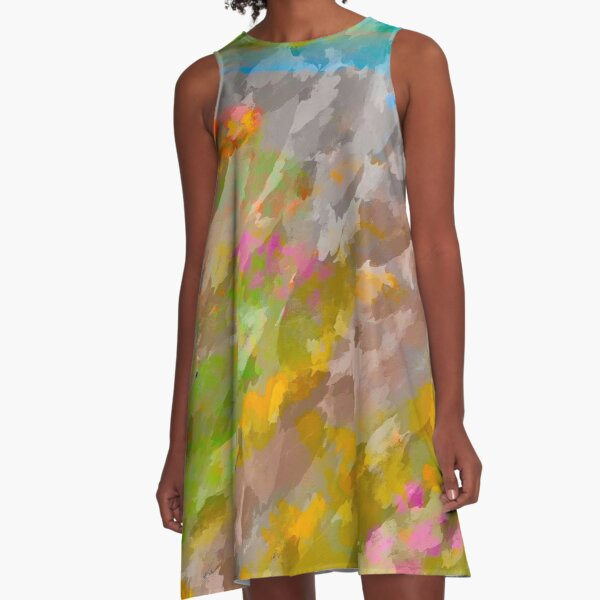 Beautiful, Restful Movement of Colors A-Line Dress