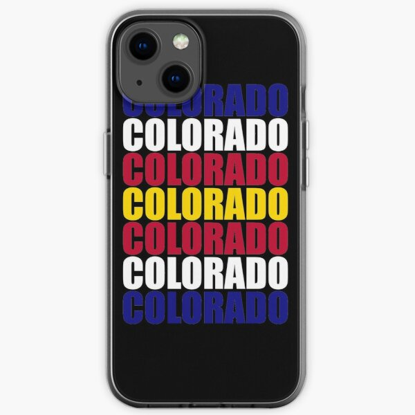 Colorado Text Flag Solid Colors iPhone Soft Case