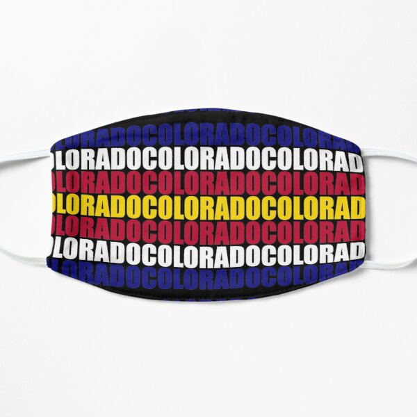 Colorado Text Flag Solid Colors Flat Mask