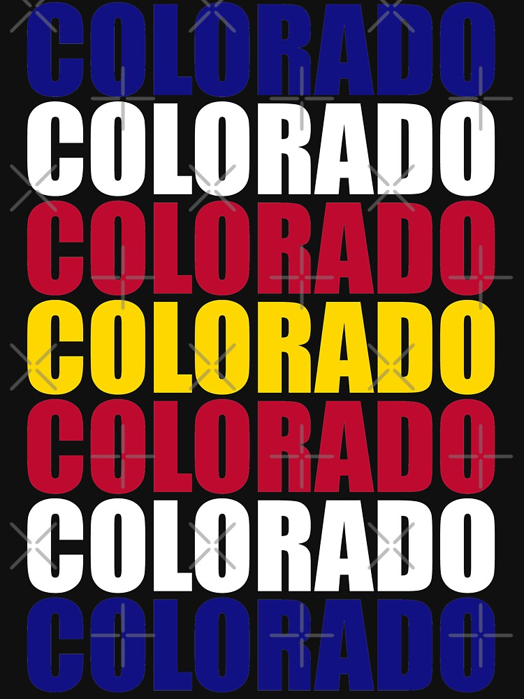 Colorado Text Flag Solid Colors by that5280lady