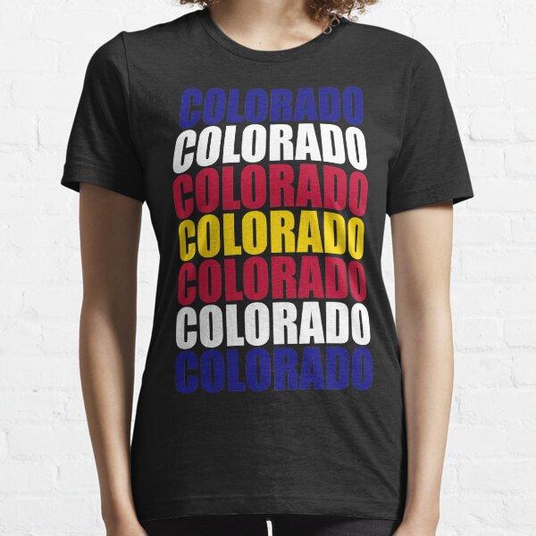 Colorado Text Flag Solid Colors Essential T-Shirt
