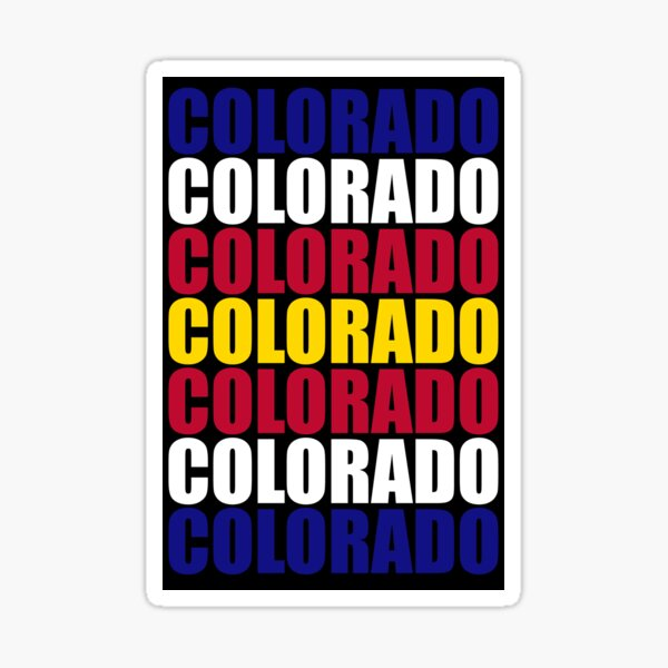 Colorado Text Flag Solid Colors Sticker