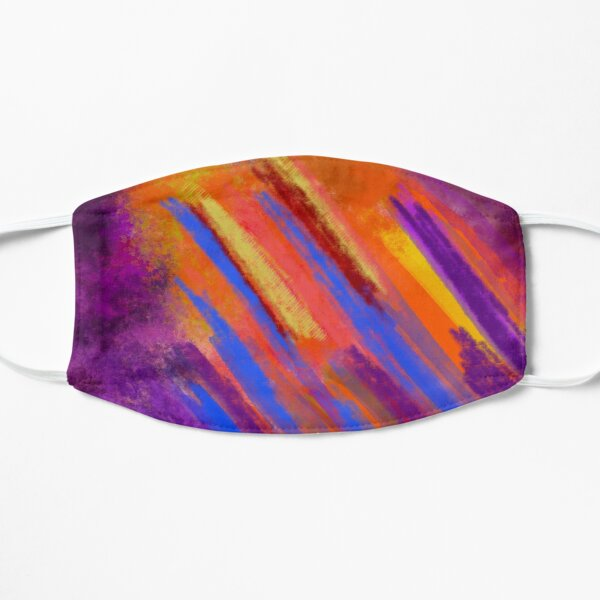 Fireworks in the Cave abstract art Flat Mask