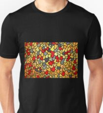 Warm colored rectangle spots T-Shirt