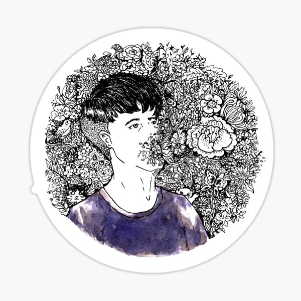 Say It With Flowers Sticker