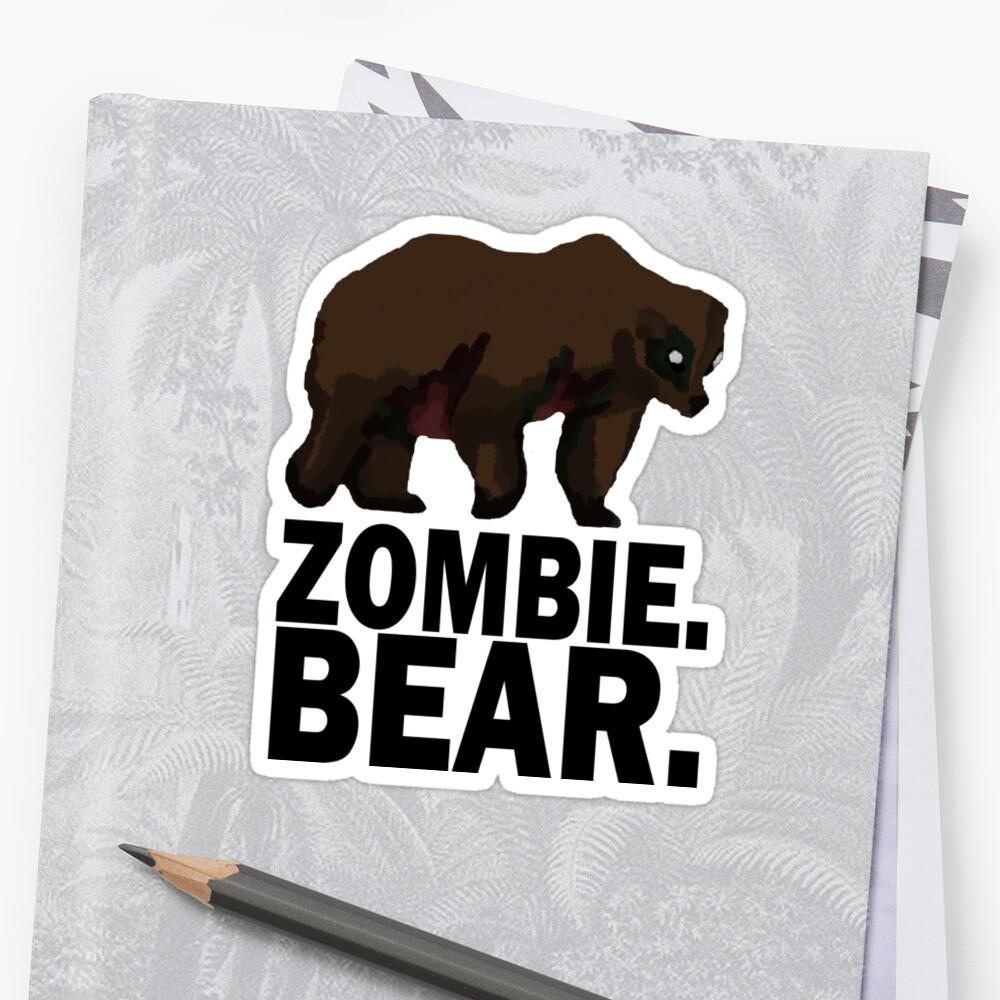 Z Nation Zombie Bär Sticker Von Tempestaurora Redbubble