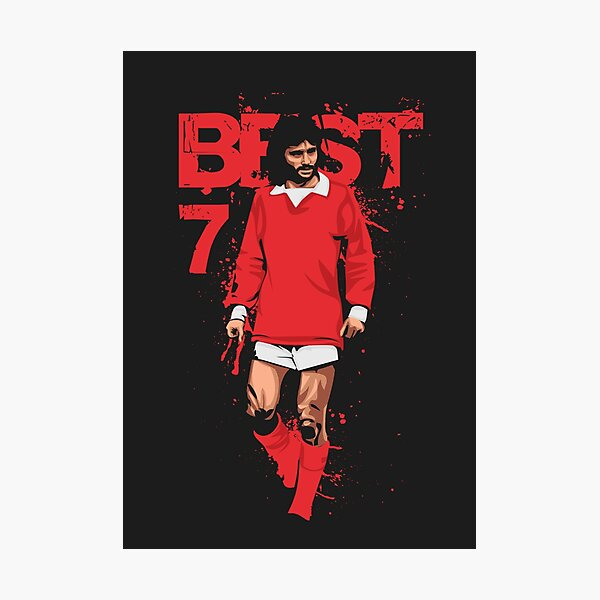 GEORGE BEST 7 ICONIC FOOTBALL PLAYER WALL ART CANVAS PRINT PICTURE READY TO HANG