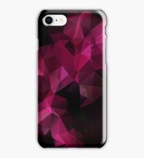 Abstract print geometrical pattern of triangles polygon. Fabric design in bright colors iPhone Case/Skin