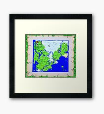 Mining Map King Size Duvet  Framed Print
