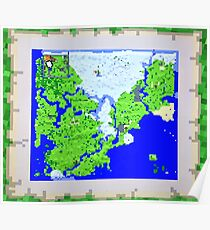 Mining Map King Size Duvet  Poster