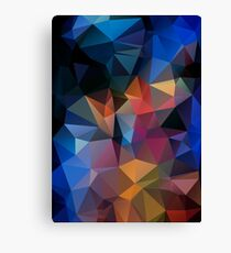 Abstract print geometrical pattern of triangles polygon. Fabric design in bright colors Canvas Print