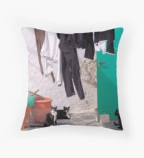 Trousers & Cats Throw Pillow
