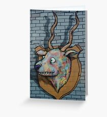 Deer Graffiti mural  Greeting Card