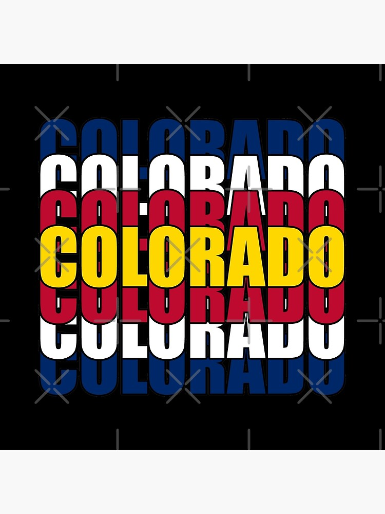 Colorado State Flag Typography by that5280lady