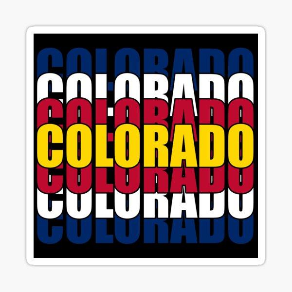 Colorado State Flag Typography Sticker