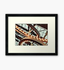 Powered On Light Bulbs On Ceiling Framed Print