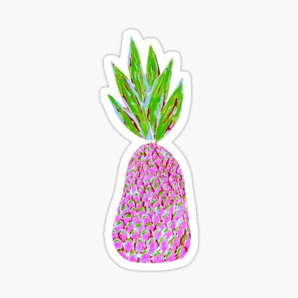 Pineapple Crush on pale yellow Sticker