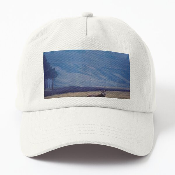 Rutting Red deer stag in a Highland Glen Dad Hat