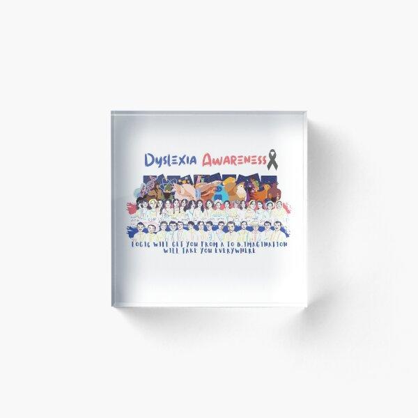 Dyslexia Awareness  Dyslexia Squad  Dyslexia Month  Dyslexia teacher Acrylic Block