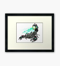 awesome laser scorpion Framed Print