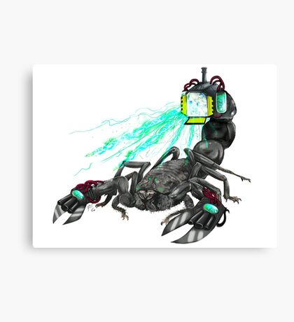 awesome laser scorpion Canvas Print