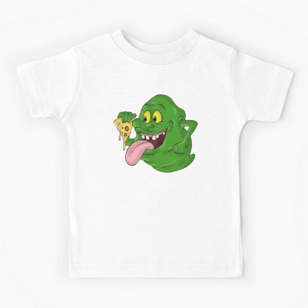 Slimer eating pizza Kids T-Shirt