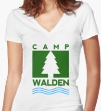 Camp Walden Women's Fitted V-Neck T-Shirt