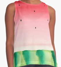 Watermelon watercolor Contrast Tank
