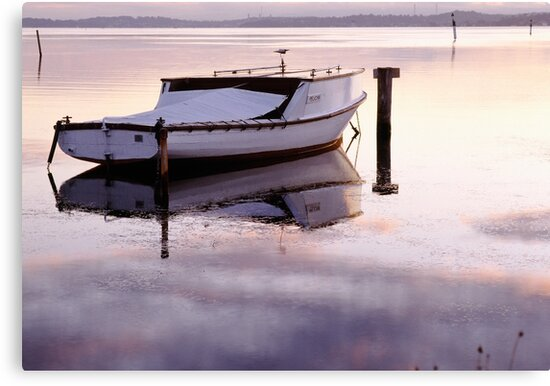 Old Fishing Boat at Sunset by Paul Foley