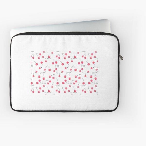 Watercolor cherry pattern Laptop Sleeve