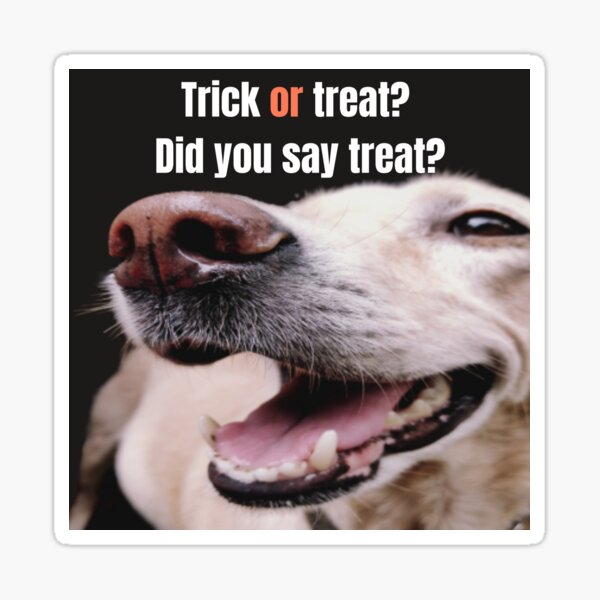 Trick or treat?...Did you say treat? Sticker