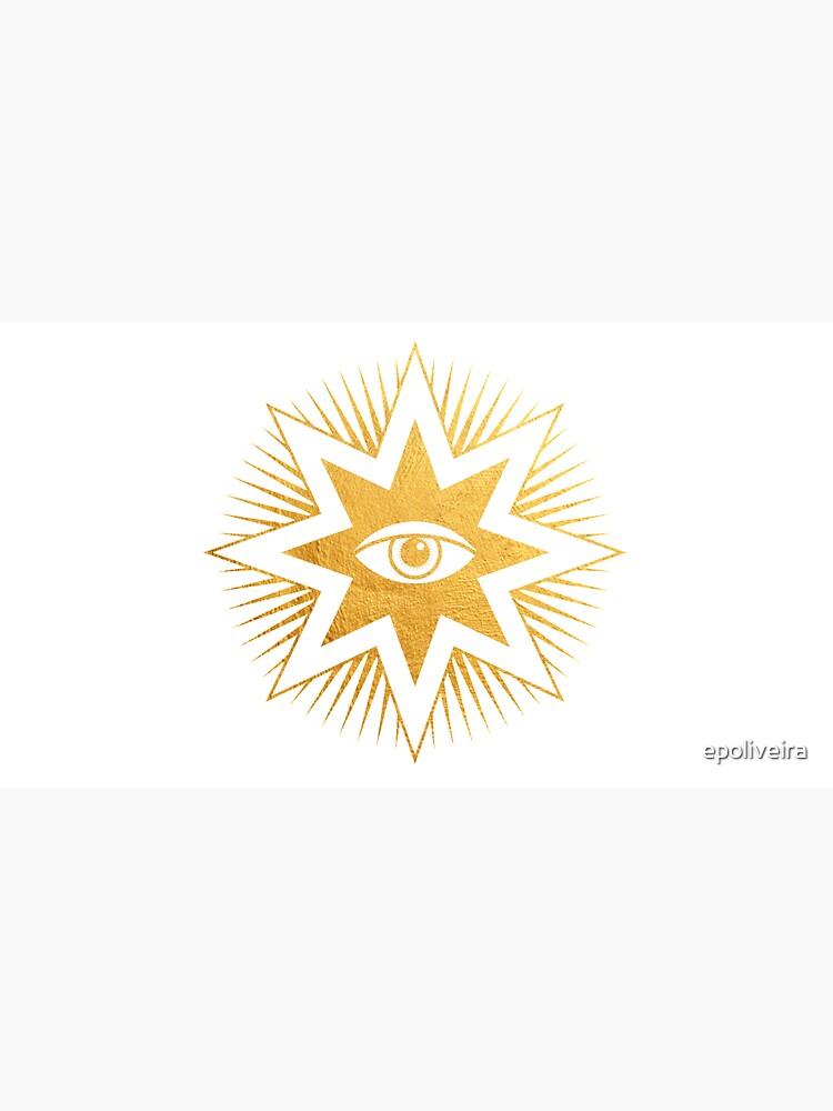 Gold symbol All seeing eye by epoliveira