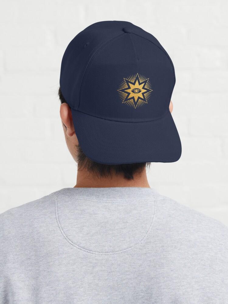 Alternate view of Gold symbol All seeing eye Cap