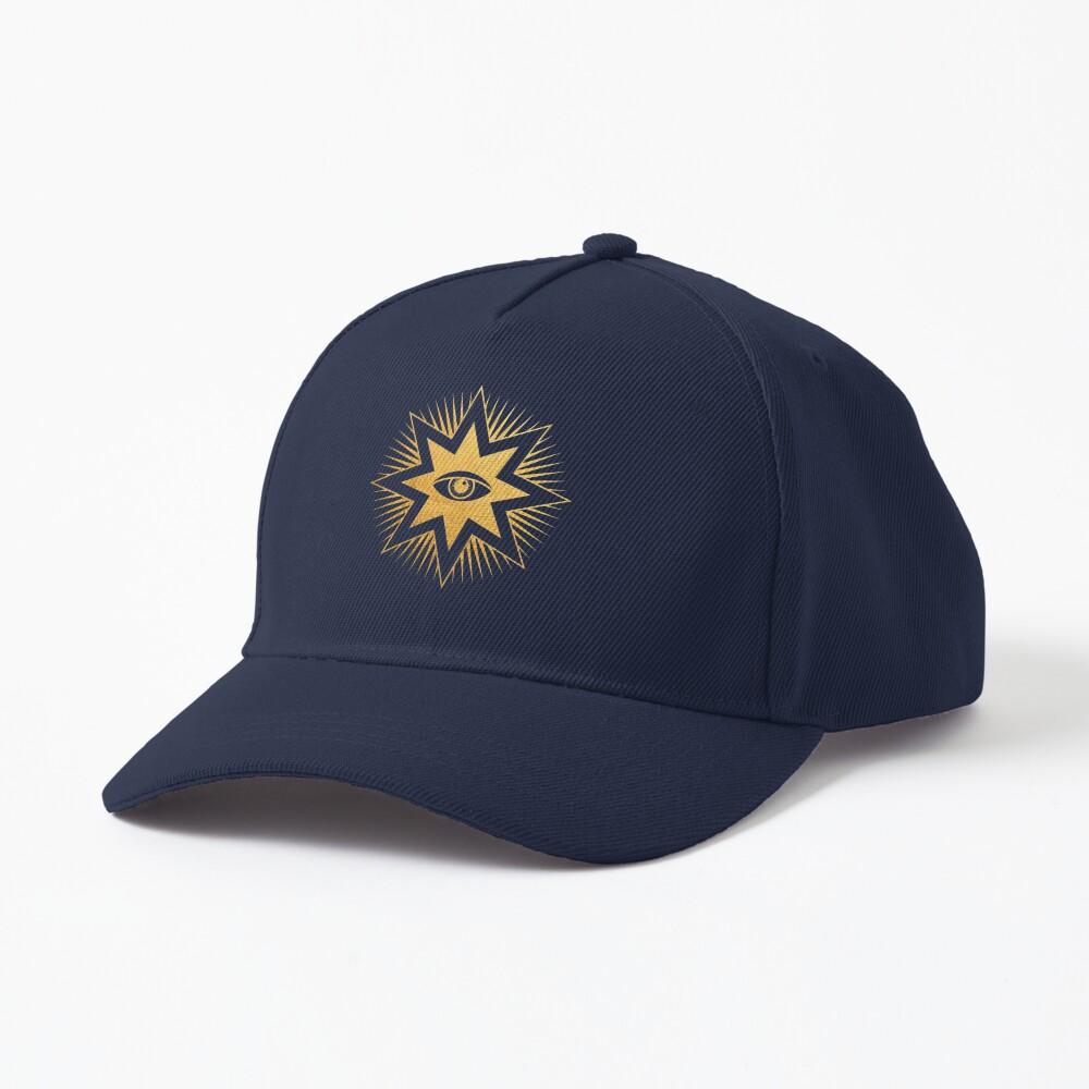 Gold symbol All seeing eye Cap