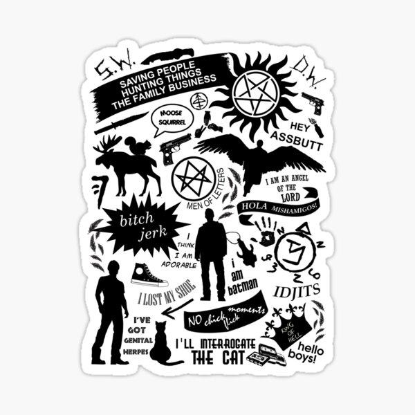 Supernatural items Sticker