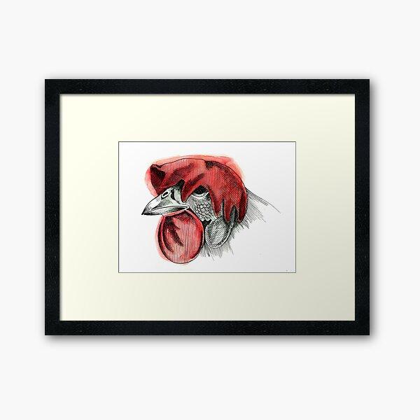 Sad cock Framed Art Print