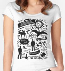 Supernatural items Women's Fitted Scoop T-Shirt