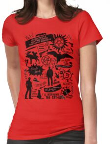 Supernatural items Womens Fitted T-Shirt