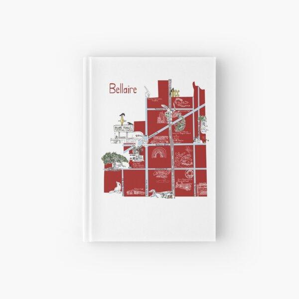 Bellaire, TX Souvenir Map Hardcover Journal
