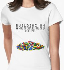 Building on Awesomeness  Women's Fitted T-Shirt