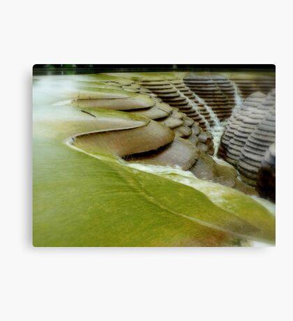 Manmade waterfalls Canvas Print