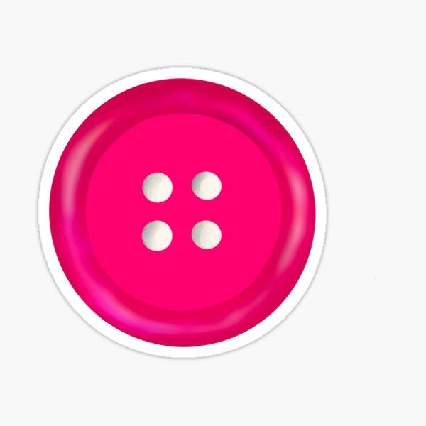 Pink button  Sticker
