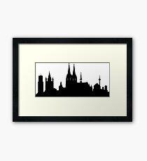 Cologne skyline Framed Print