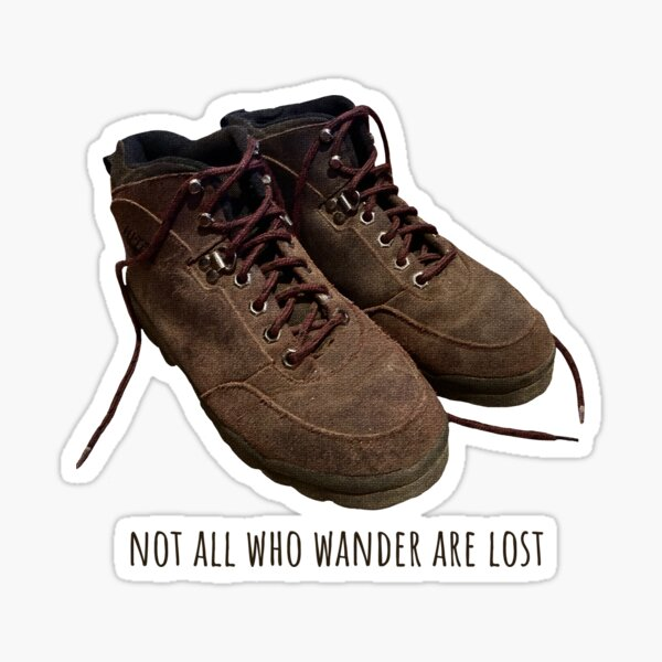 Wandering In Hiking Boots Sticker