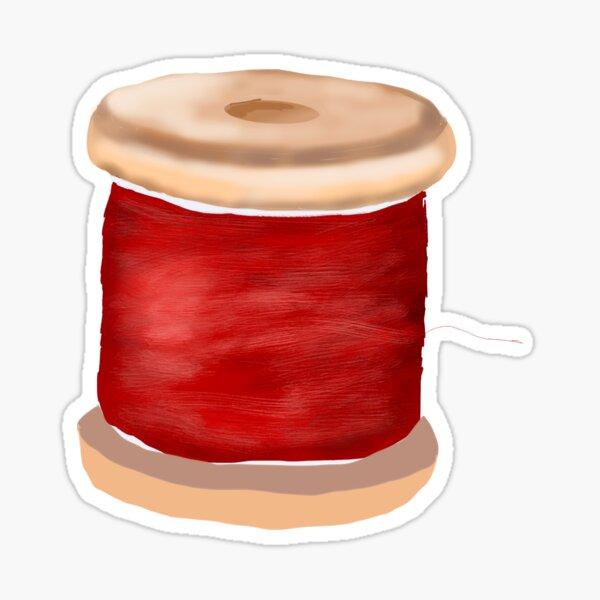 Red spool of thread Sticker