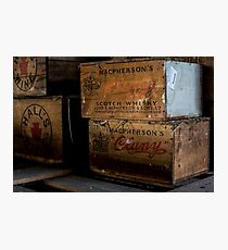 Whisky Cases Photographic Print