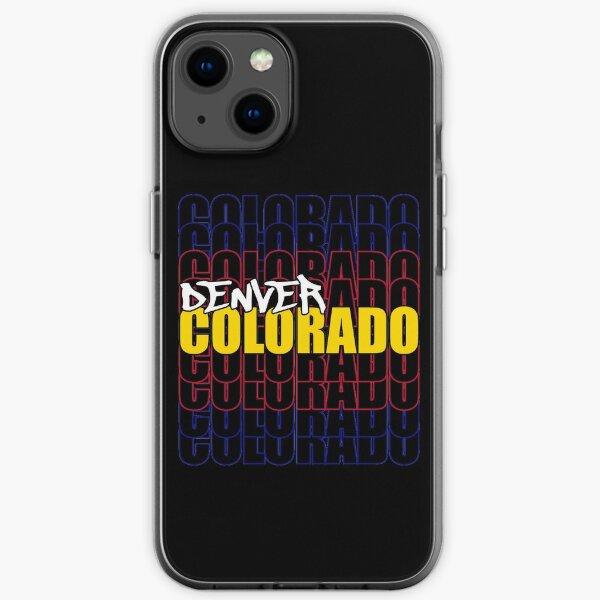 Denver Colorado State Flag Typography iPhone Soft Case