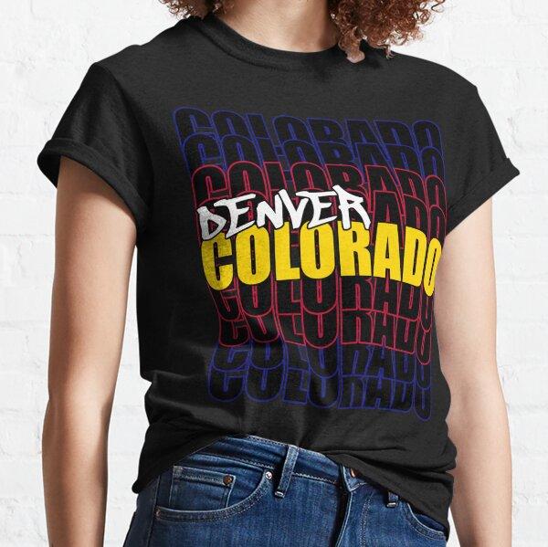 Denver Colorado State Flag Typography Classic T-Shirt